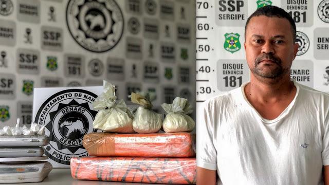 Treinador de goleiros é preso  suspeito de tráfico de drogas em Aracaju