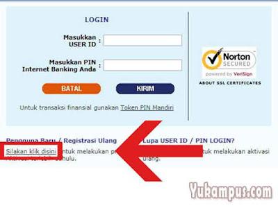 cara aktivasi internet banking mandiri