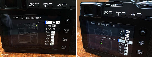 Fujifilm X-E3 function settings menu options
