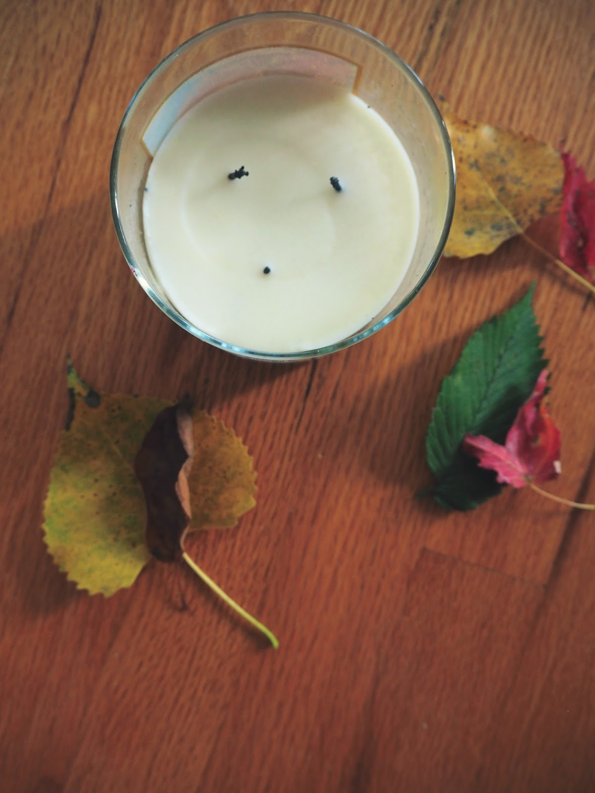 candle, leaves, fall, autumn