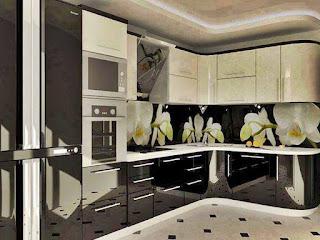แบบห้องครัวสีทูโทน