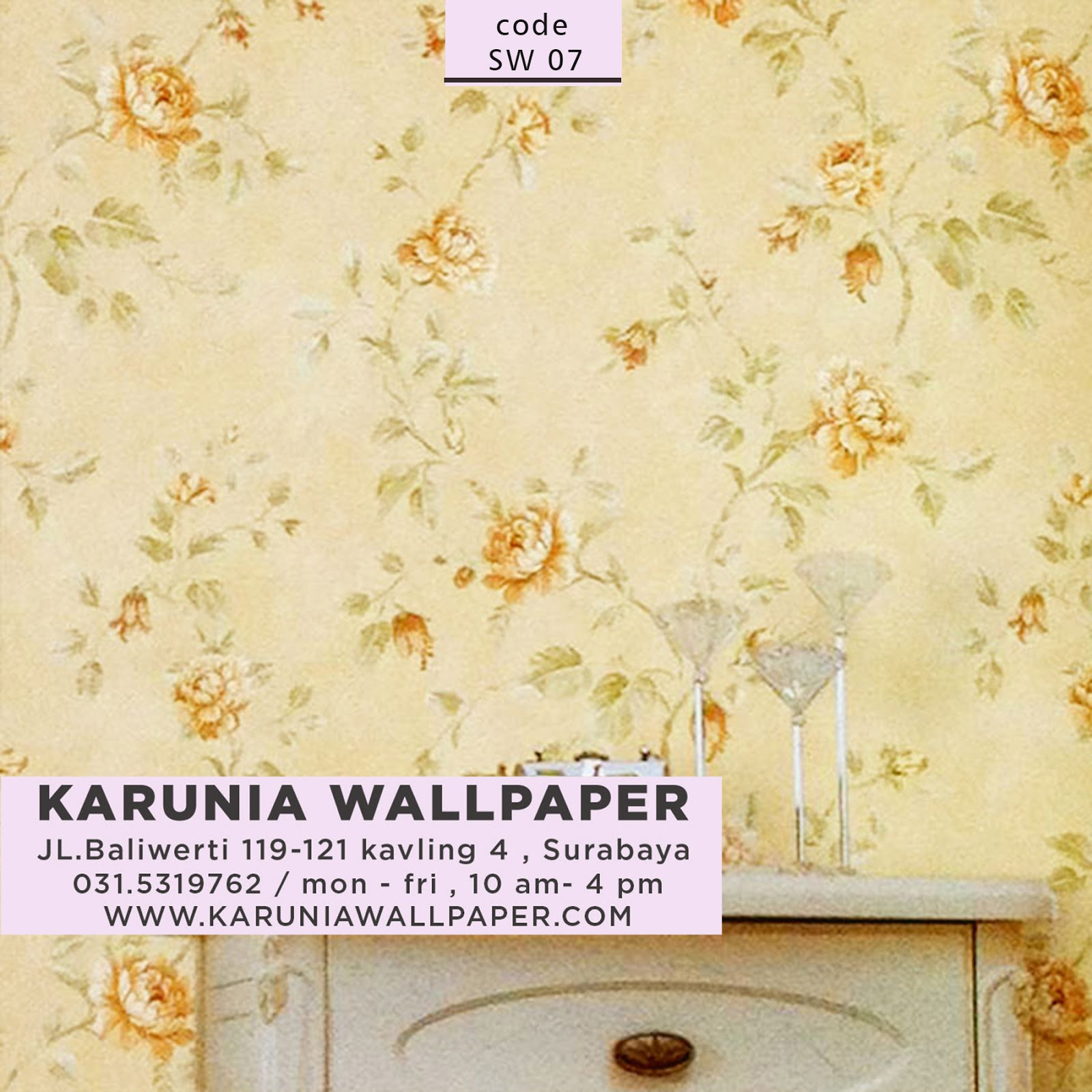 wallpaper kamar dinding rumah shabby chic