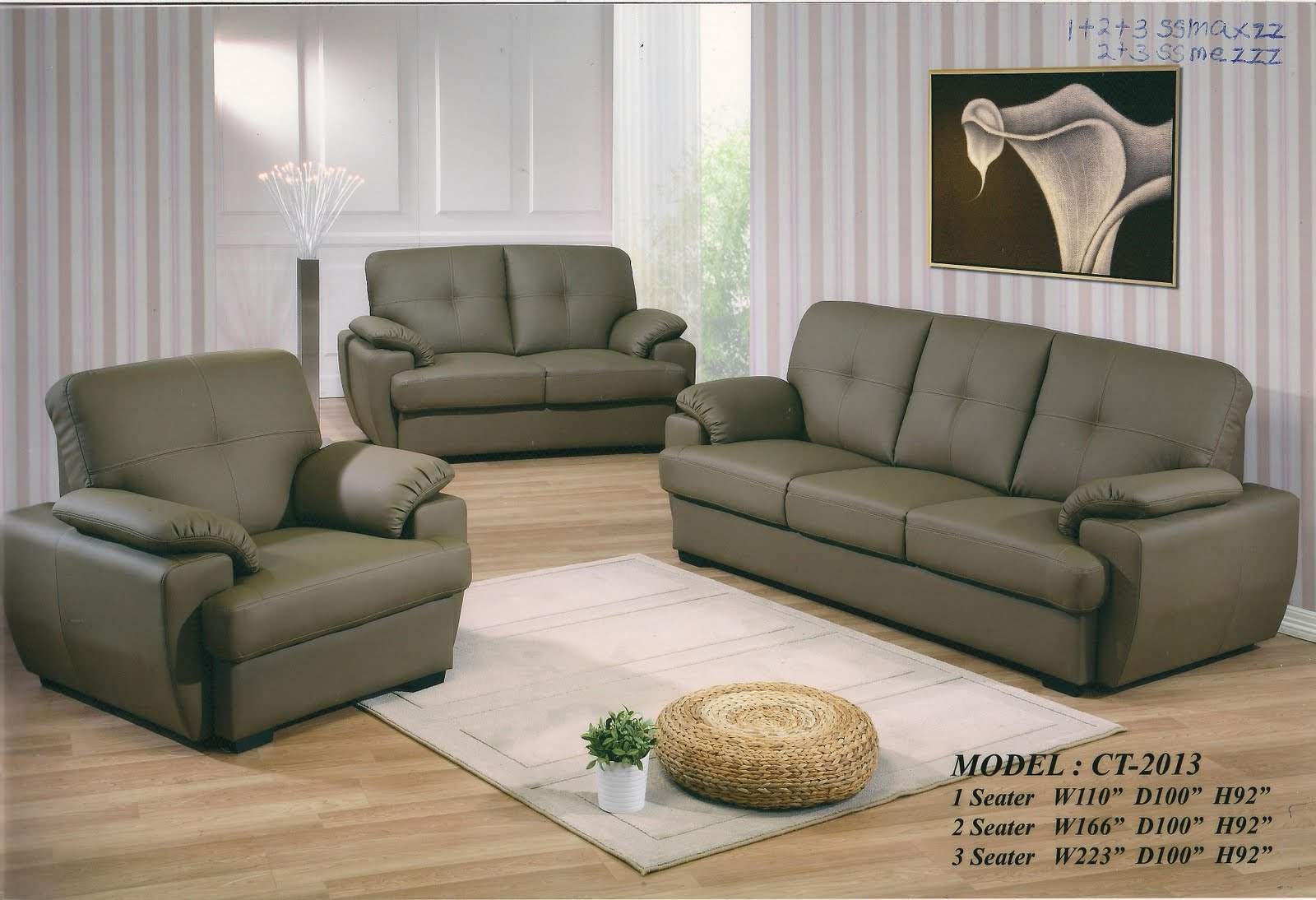 one and half seater sofa contemporary outdoor uk perabot kamilatan set 1 43 2 3