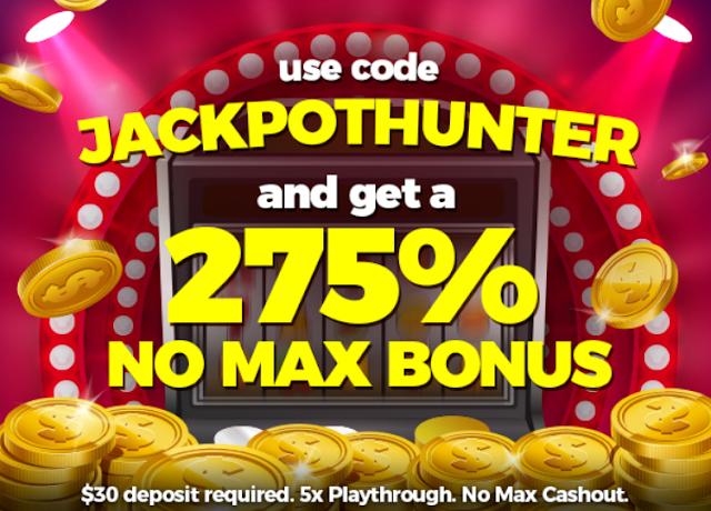 Slots of Vegas casino JACKPOTHUNTER bonus