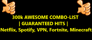 300k AWESOME COMBO-LIST | GUARANTEED HITS | Netflix, Spotify, VPN, Fortnite, Minecraft