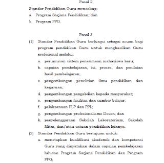 Standar Pendidikan Guru Sesuai Permen Ristekdikti Nomor 55 Tahun 2017