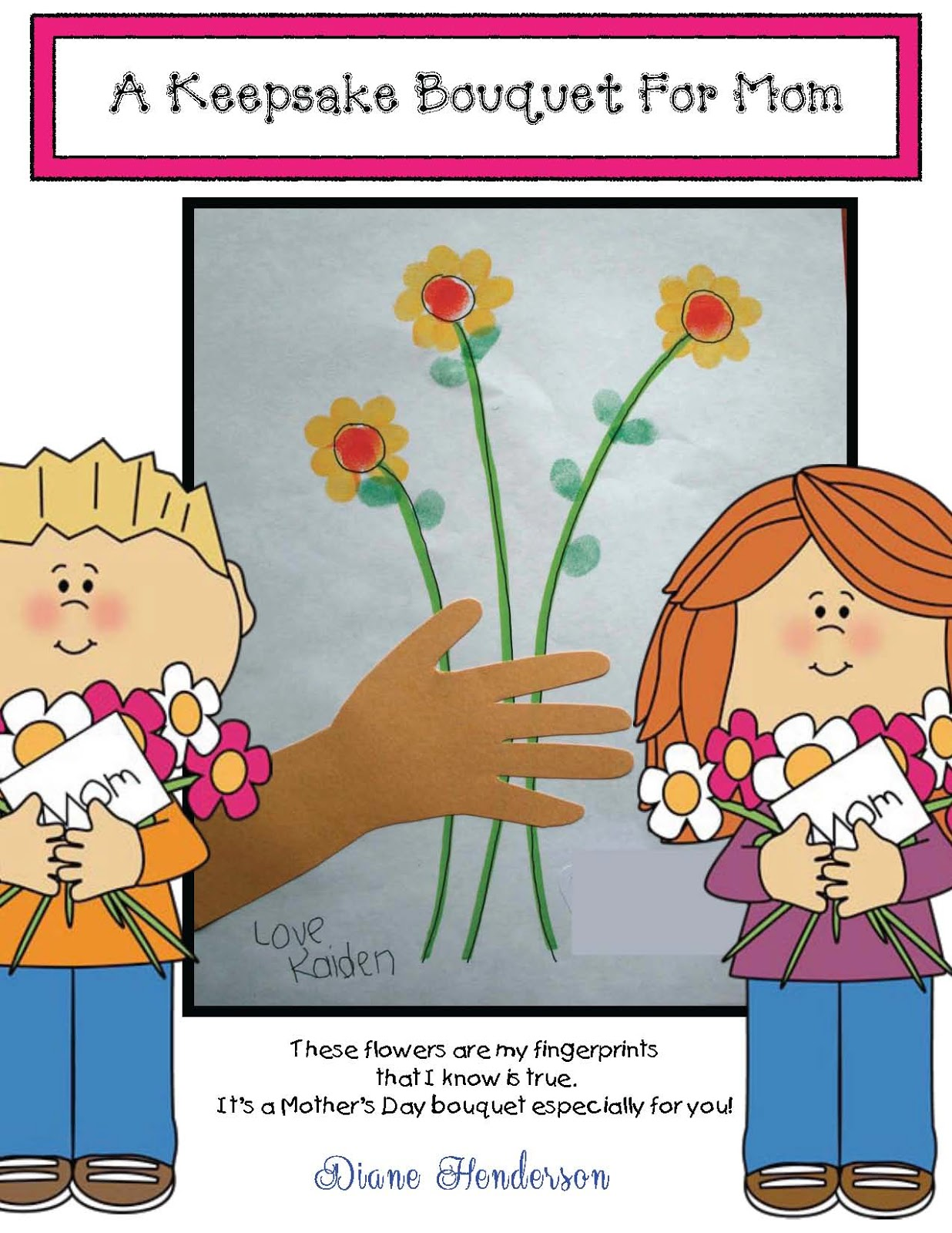 Mother S Day Bouquet Keepsake Craftivity