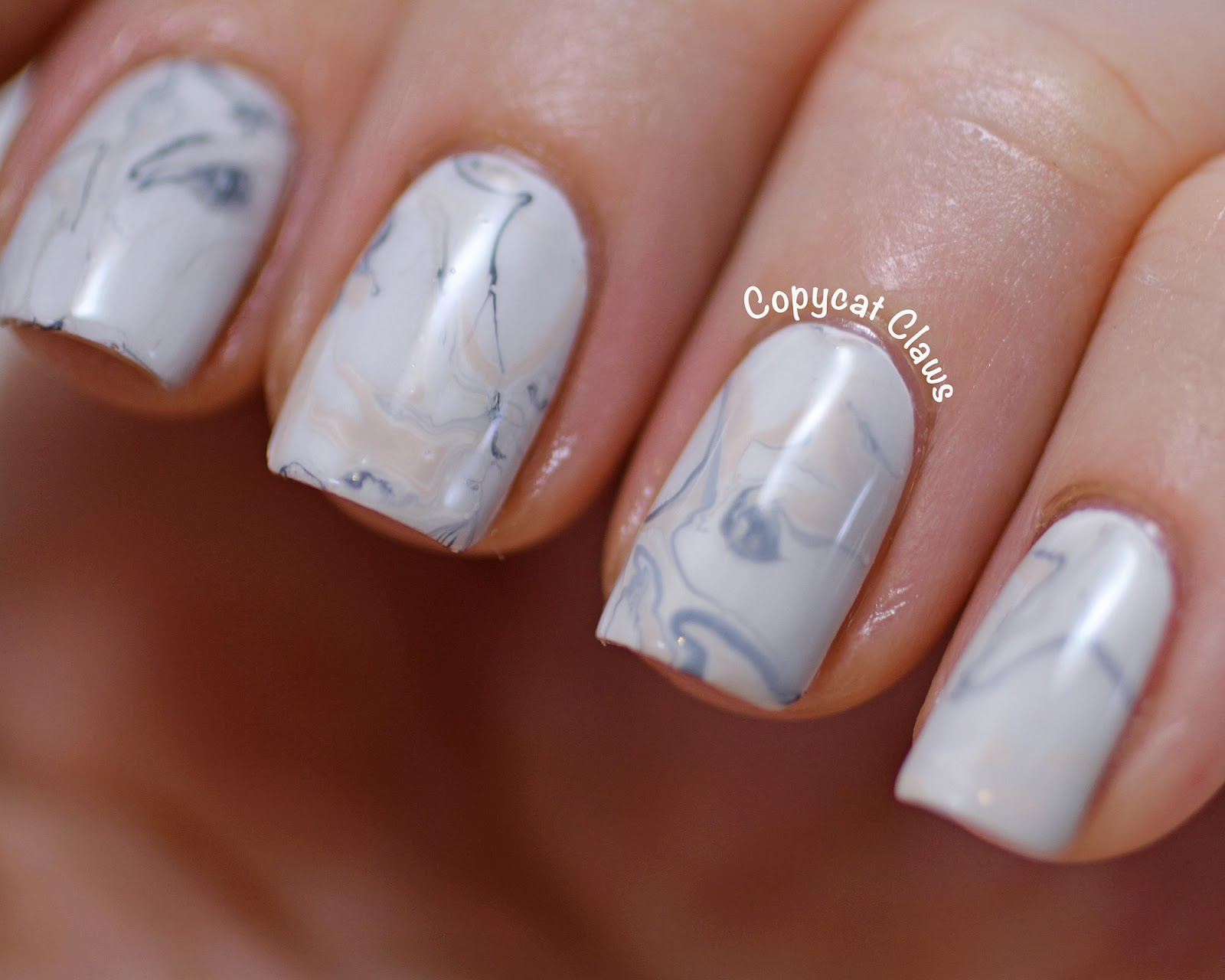Copycat Claws: Marble Nail Art