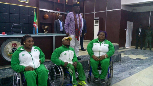 Rochas Okorocha rewards 3 indigenes who won gold medals in the Rio 2016 Paralympic