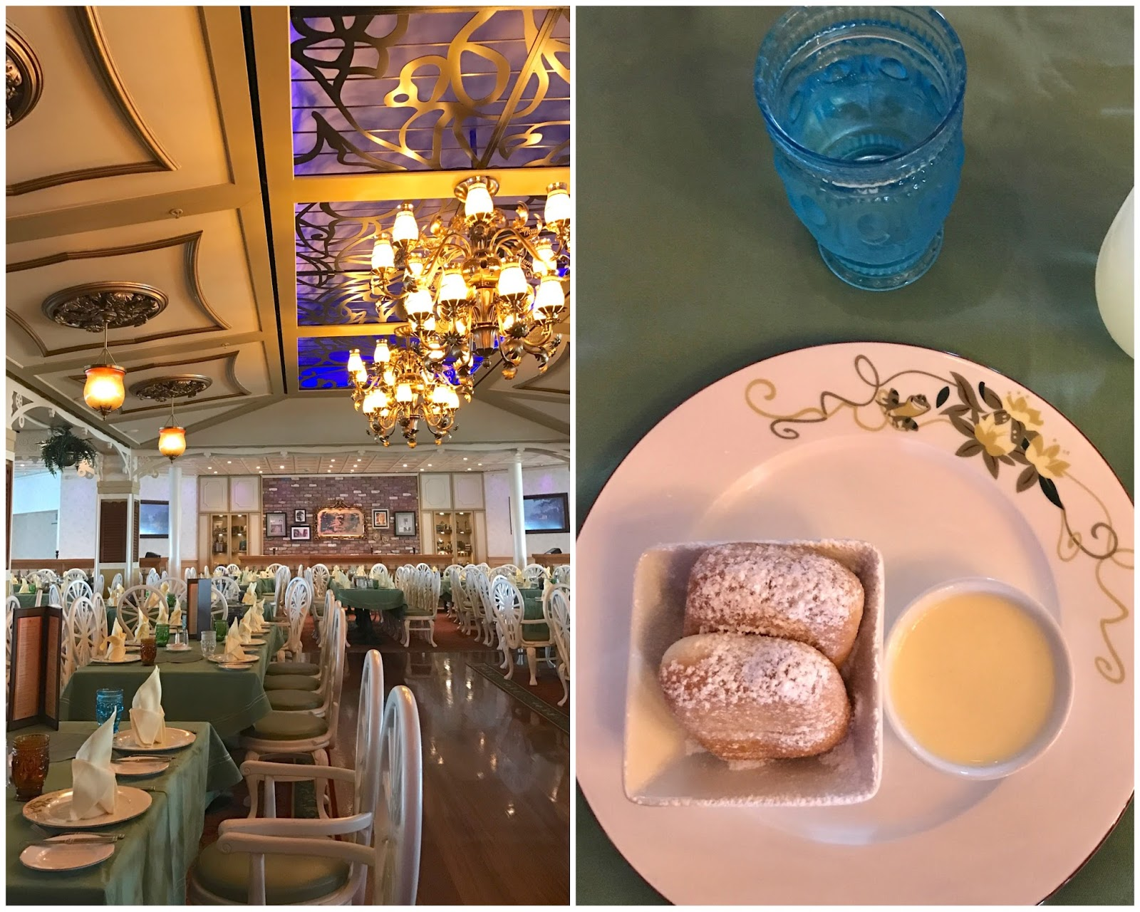 beignets at Tiana's place, new orleans restaurant on Disney Wonder