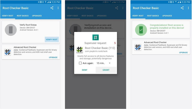 Samsung Galaxy S7 Root Checker Screenshots
