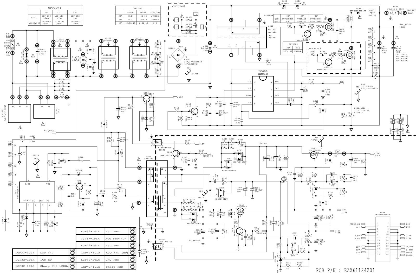 Lg42le8500 850n Lg42le8800 8900 Smps Circuit Diagram Electro Help Led Driver Citcuit