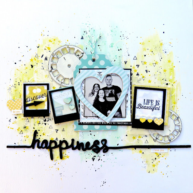 Happiness scrapbook page tracee provis 2crafty chipboard 01