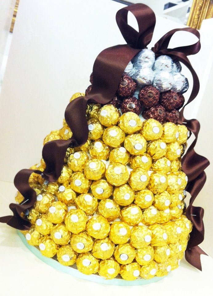 Iced Out Company Cakes Ferrero Rocher Tower