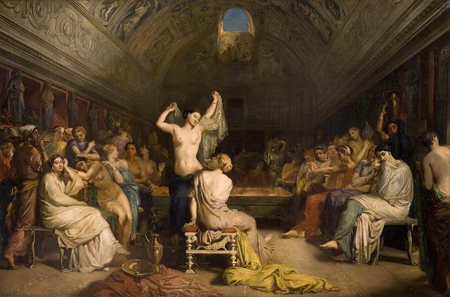 Théodore Chassériau - il tepidarium - arte - nudi femminili