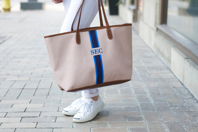 barrington gifts spring monogrammed tote
