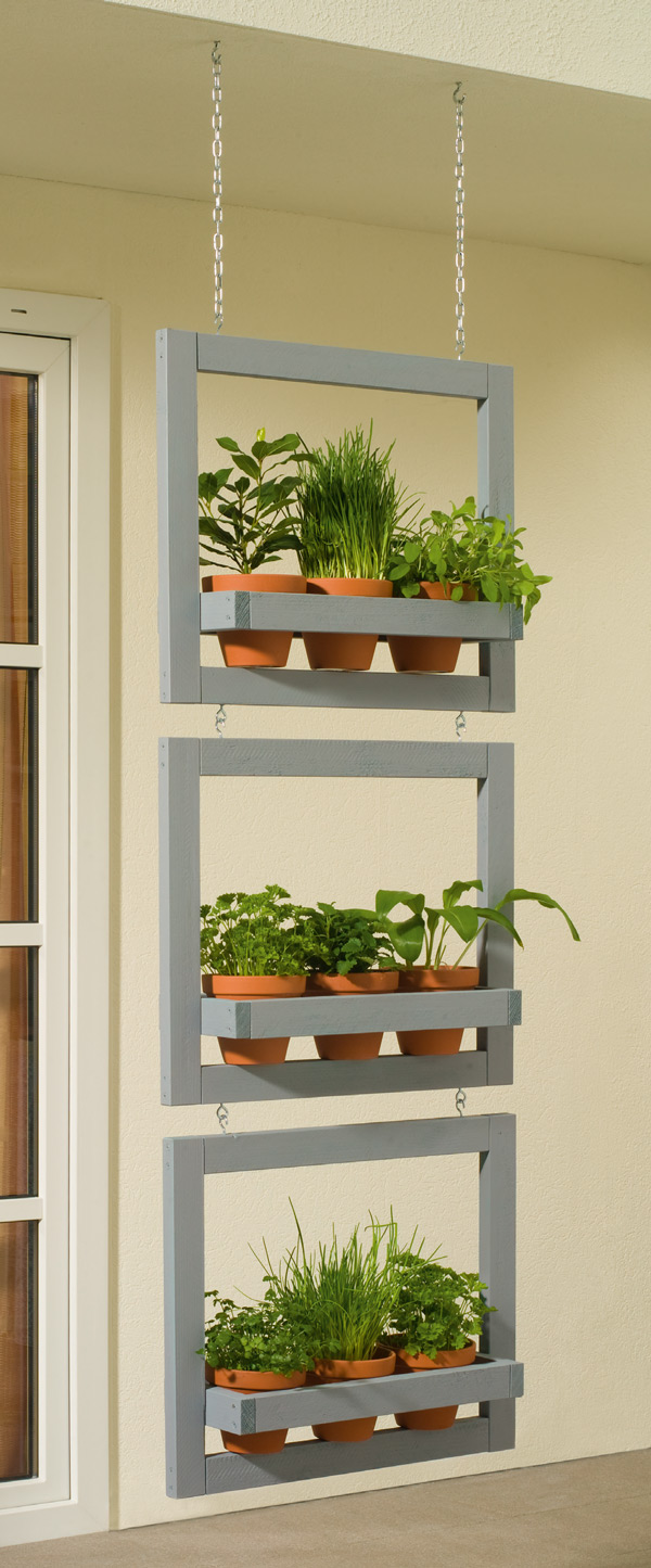 Hanging vertical planter garden