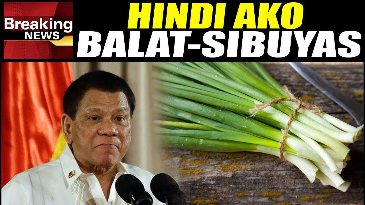 PANOORIN: Reaksyon Ni Pres. Duterte Nang Masabihang Balat-sibuyas