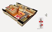 Thiết kế căn 7 8 14 tòa B chung cư Gemek Tower
