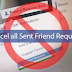 how to cancel all sent friend requests in one click
