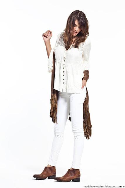 Ropa de mujer invierno 2016 blusas, ruanas y pantalones Vesna.