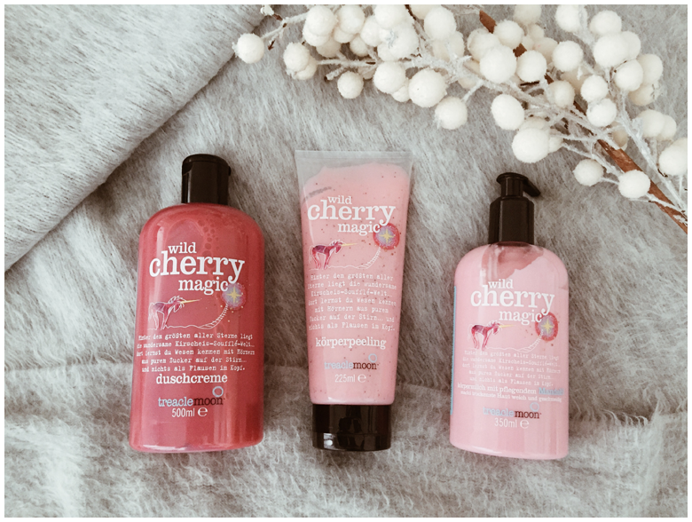 treaclemoon wild cherry magic, duschcreme, bath and shower gel, körperpeeling, body peeling, körpermilch, body lotion, review