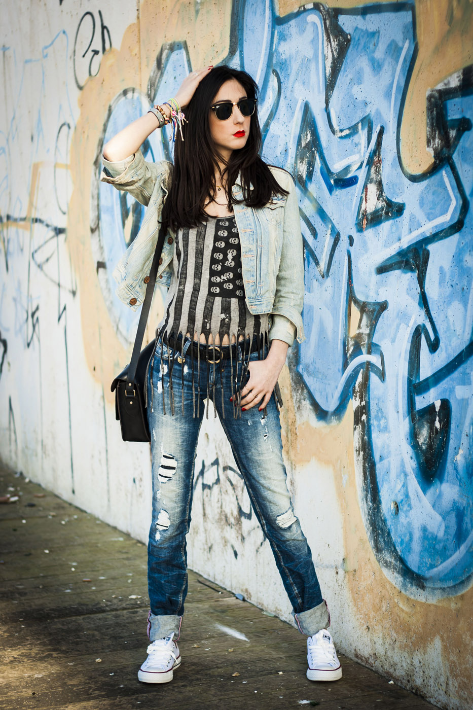 rock outfit denim