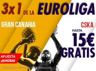 suertia promocion Gran Canaria vs CSKA 26 octubre