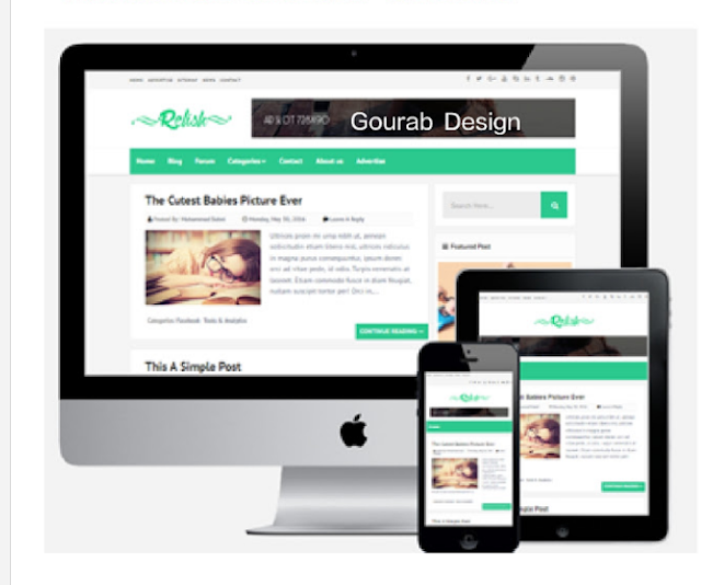 Relish blogger template image