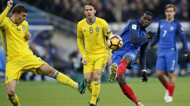 Suecia vs Francia en vivo