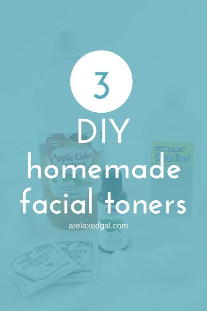 3 DIY Homemade Facial Toners | arelaxedgal.com