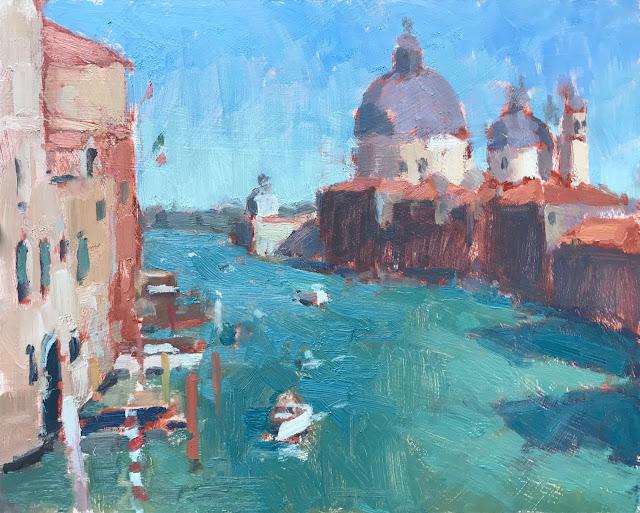 #399 '4pm, Maria Della Salute Venice' 8×10″