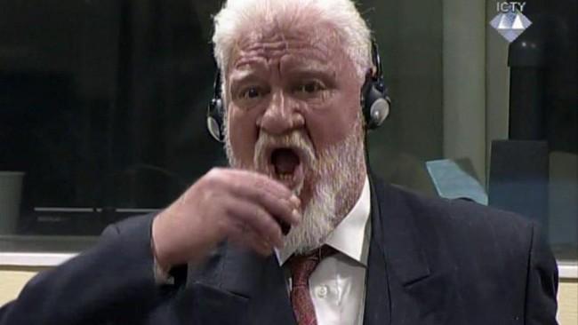 Mantan Jenderal Perang Kroasia Bosnia Menelan Racun Saat di Pengadilan