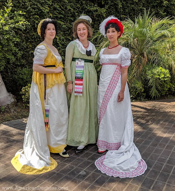 Nicole me and Samantha in our Regency gowns at Costume College 2018 I promised finished-dress-worn photos of this little devil of a 1790s project ...  sc 1 st  American Duchess & American Duchess