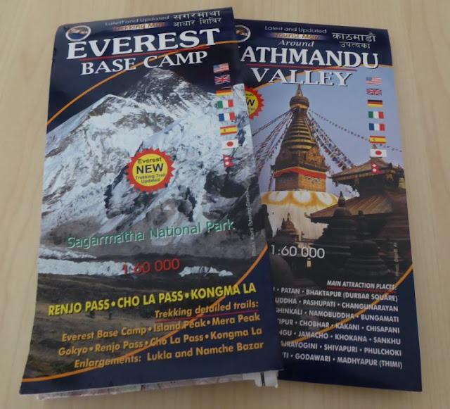 Mappe sentieri Nepal