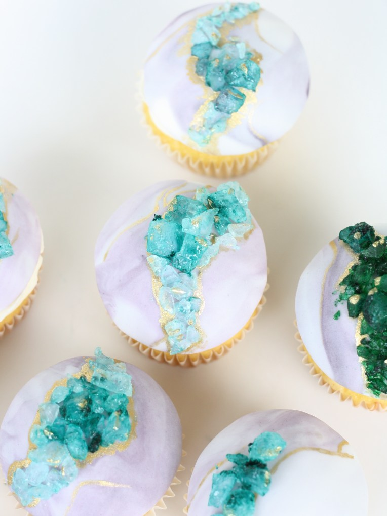Geode Cupcakes