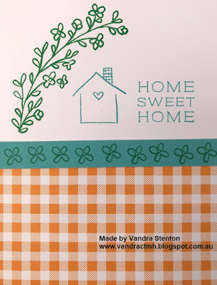 #CTMHVandra, Colour Dare Challenge, color dare, stamping, #CTMHHelloPumpkin, halloween, home sweet home, flowers, cardmaking, plaid,