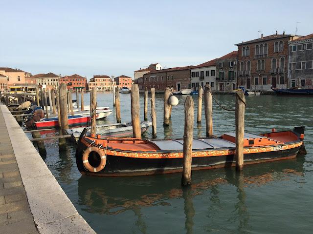 Boats in Murano Venice Italy