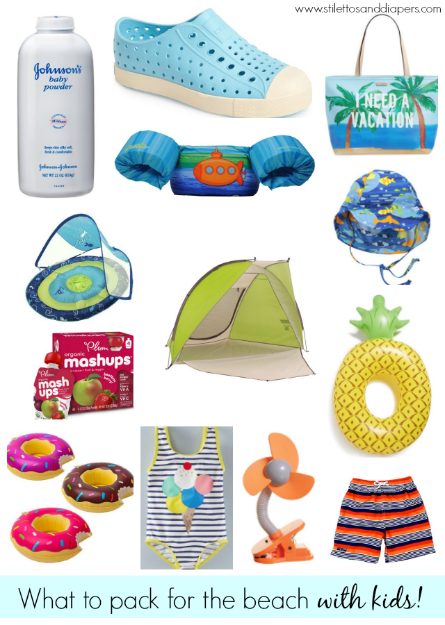 What you need for a beach trip with kids!