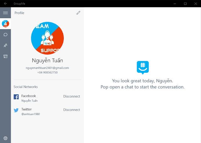 Ứng dụng GroupMe cập nhật cho Windows 10 với các bản sửa lỗi