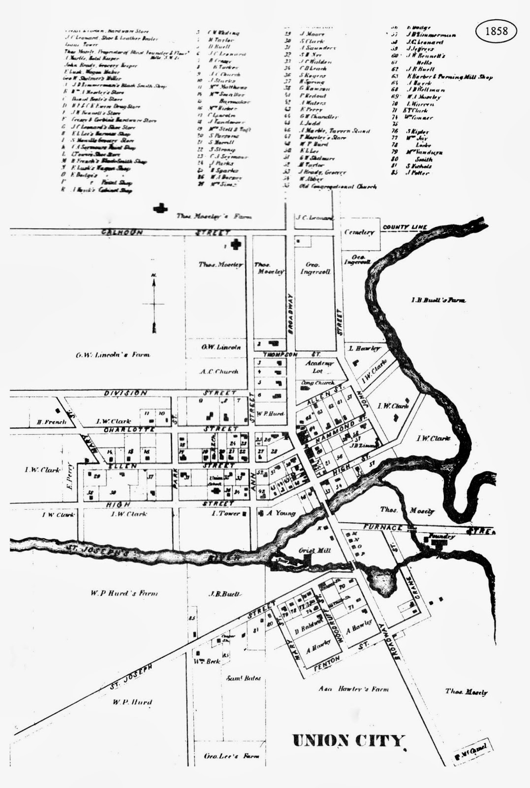 Old Union City Postcards and Pictures...: Map of Union