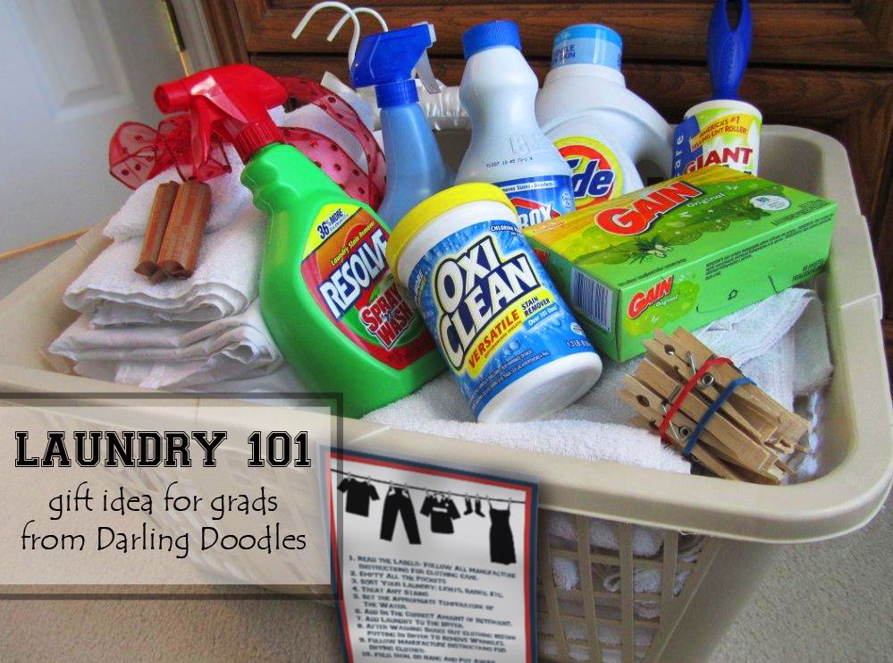 First Time Probably Dont Have A Stockpile Of Laundry Items To Take With Them But They Will Need Making This Gift Basket Great Graduation