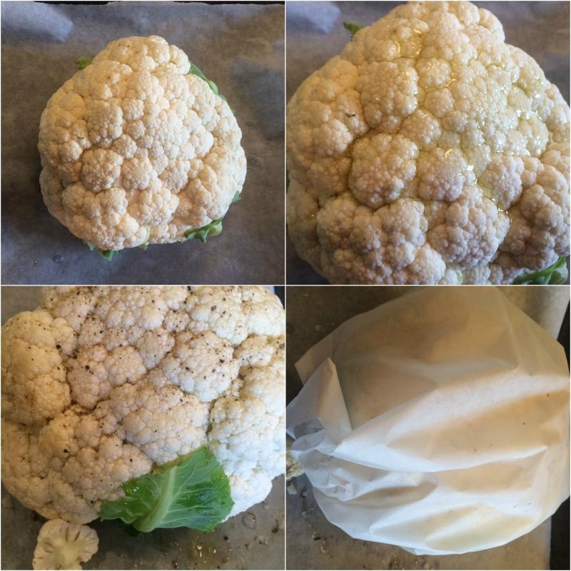 la fabrique gourmande: chou-fleur entier rôti au four