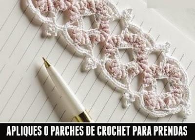 Haz Apliques de Crochet para Prendas de Vestir