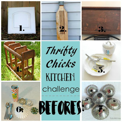 Thrifty Chicks Group Kitchen Challenge July 2017 Before Photos