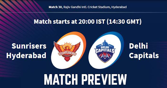 VIVO IPL 2019 Match 30 SRH vs DC Match Preview, Head to Head and Trivia