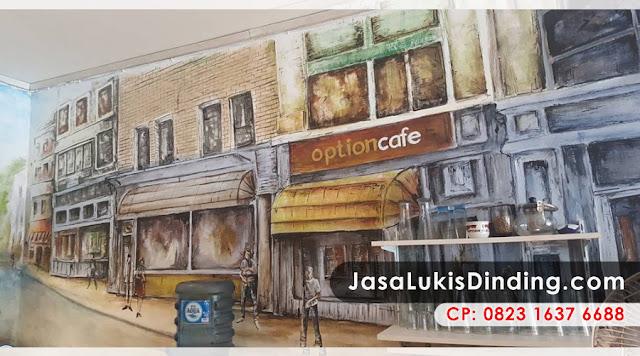Lukisan Dinding Cafe Hitam Putih, Lukisan Tembok Cafe, Contoh Lukisan Dinding Cafe, Lukisan Mural Hitam Putih, Lukis Dinding Rumah, Interior Dinding Cafe, Lukisan Cafe Terrace At Night, Tarif Jasa Lukis Dinding