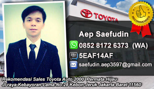 Rekomendasi Sales Toyota Auto 2000 Permata Hijua, Jakarta Barat
