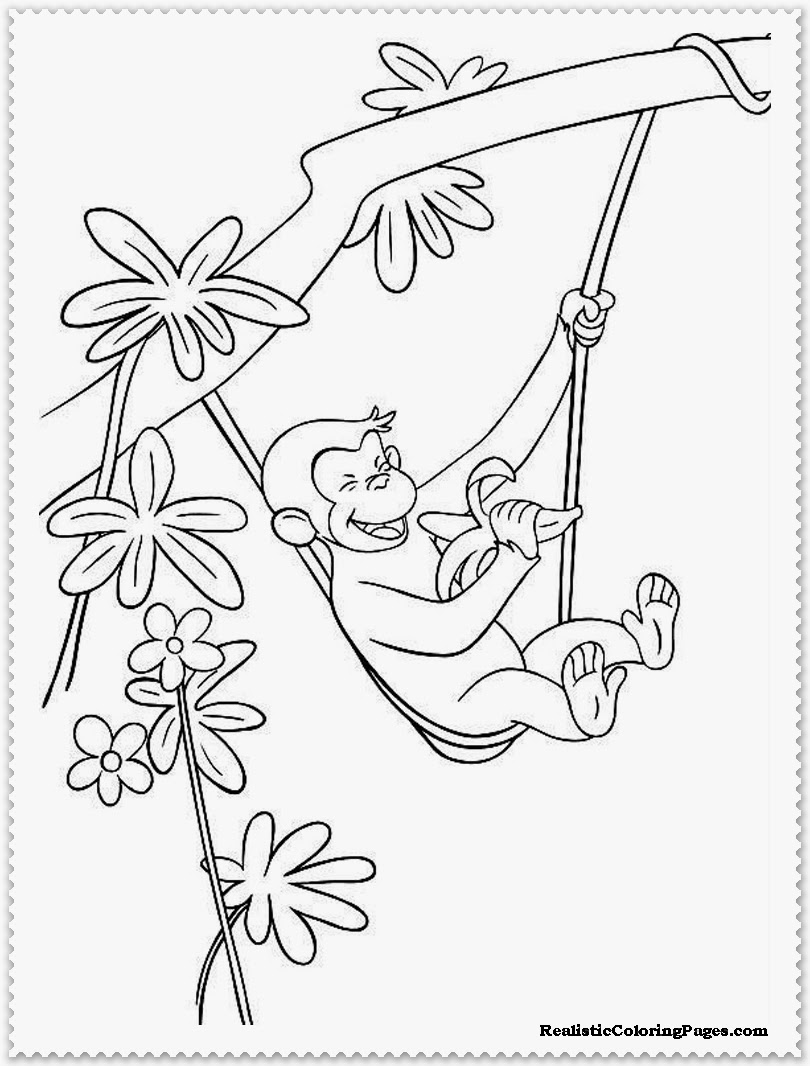 print out curious george coloring pages