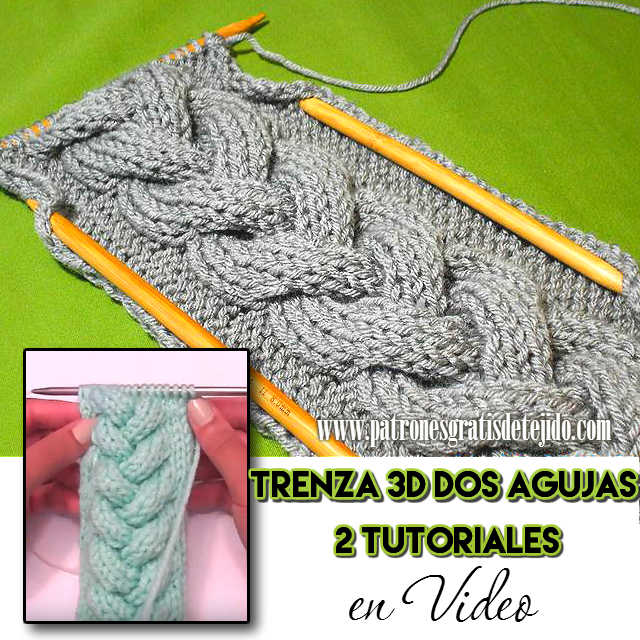 Cómo tejer trenza con palitos en relieve tutorial en video